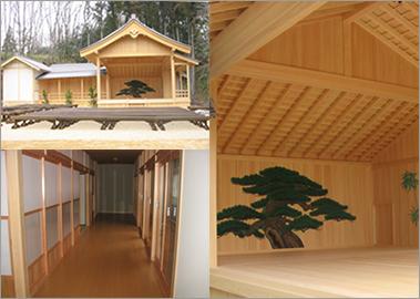 昭和村 能楽堂の建設